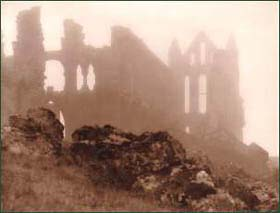 'Whitby Abbey shrouded in Mist' by Frank Meadow Sutcliffe